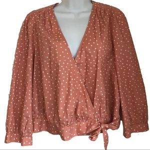 Madewell Star Scatter Wrap Top L